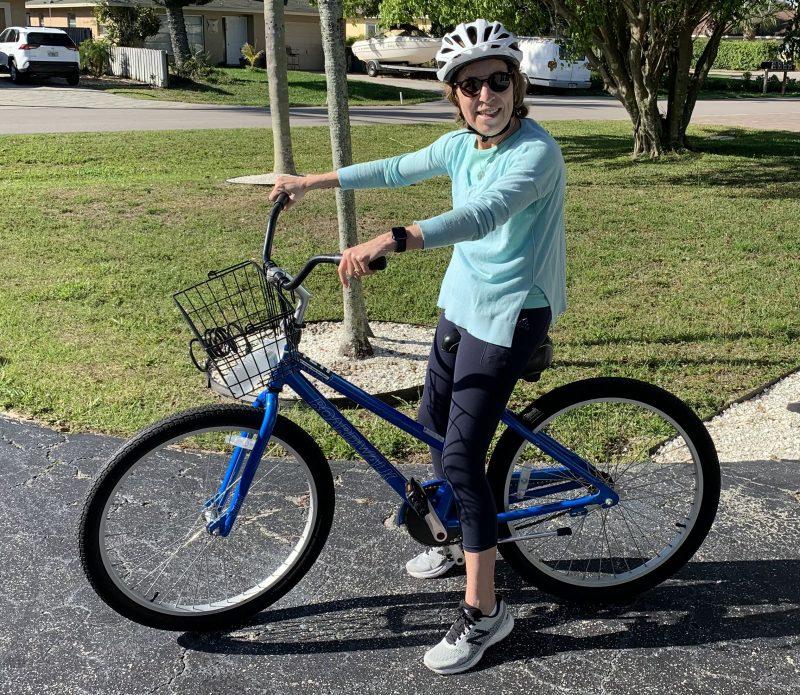 Judy on Cruiser Bicycle