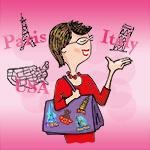 Judi Travel Caricature