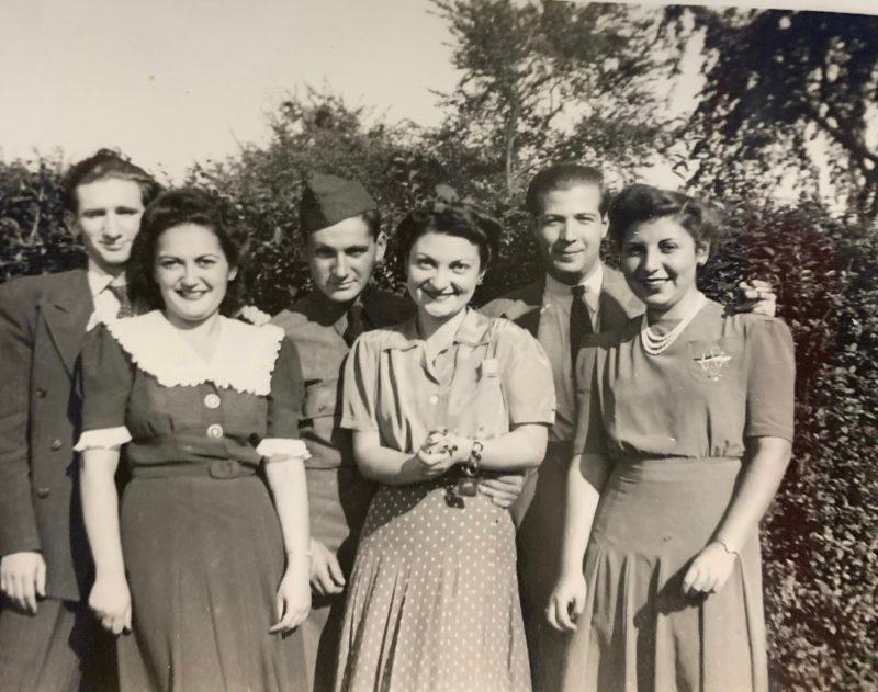 Group of twenty-somethings in the 1940s