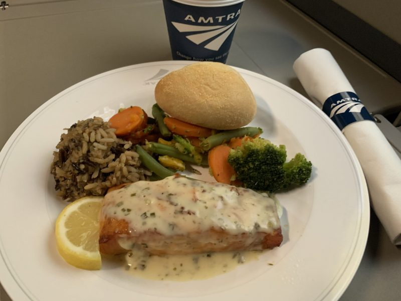 Dinner Meal on Amtrak Auto Train